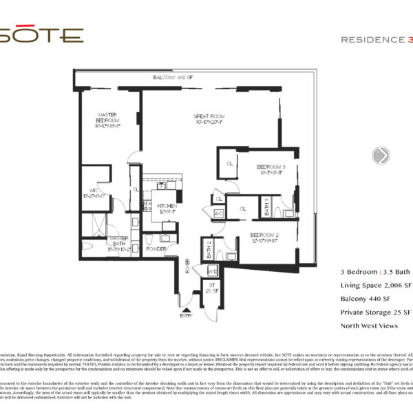 Unit 301 Floor Plan