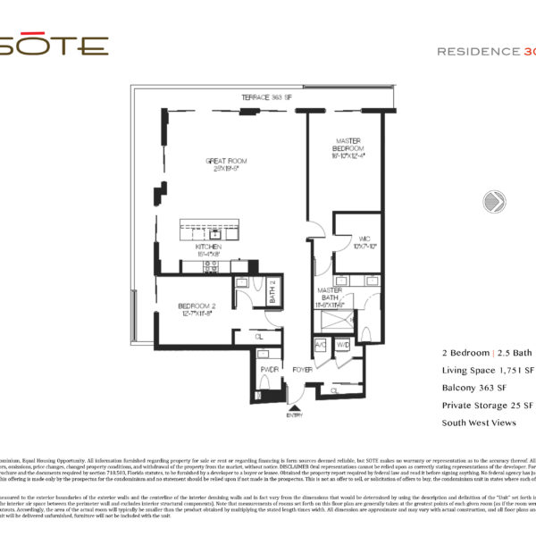 Unit 303 Floor Plan Template