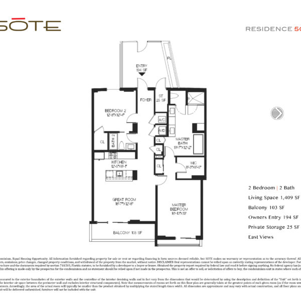 Unit 505 Floor Plan