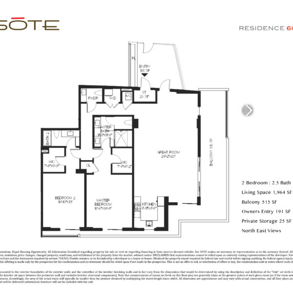 Unit 605 Floor Plan